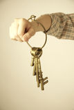 Old brass keys Royalty Free Stock Image