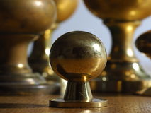 Old Brass Knobs Royalty Free Stock Photography