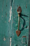 Old brass latch. Royalty Free Stock Images
