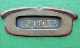Old Brass Letter Slot Stock Photos