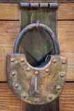 Old brass padlock Royalty Free Stock Image