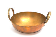 Old brass pan for baking Royalty Free Stock Photo