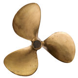 Old brass propeller Royalty Free Stock Photography