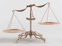 Old brass scales Royalty Free Stock Images