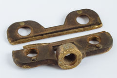 Old brass scraper body Royalty Free Stock Images