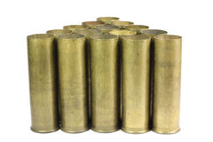 Old brass sleeve to the shotgun Stock Image