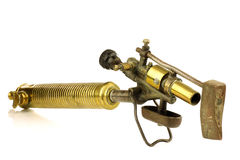 Old brass soldering tool Royalty Free Stock Image