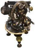 Old Brass Theodolite Royalty Free Stock Images