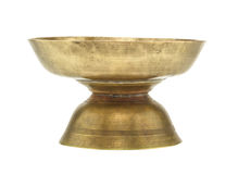 Old brass tray with pedestal Royalty Free Stock Photography