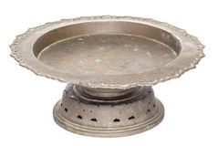Old Brass tray with pedestal Stock Photos