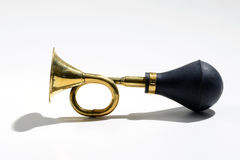 Old brass trumpet or car horn Stock Photography