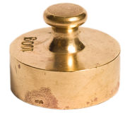 Old brass weight Stock Images