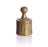 Old brass weight Royalty Free Stock Photography
