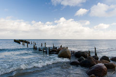 Old breakwater Stock Image