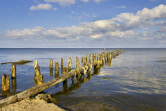 Old breakwater. Royalty Free Stock Images