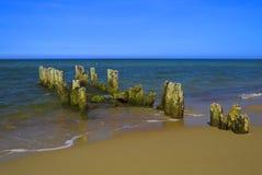 Old breakwater. The Baltic Coast of Svetlogorsk Royalty Free Stock Photos