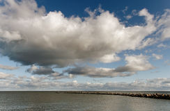 Old breakwater. Royalty Free Stock Photos