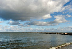 Old breakwater. Stock Photo