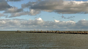 Old breakwater. Stock Image