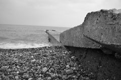 Old breakwater Stock Images