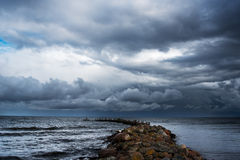Old breakwater. Stock Images