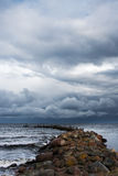 Old breakwater. Stock Photography