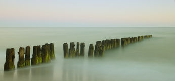 Old breakwater Royalty Free Stock Photos