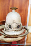 Old breathing apparatus mask Koenig. Closeup old breathing apparatus mask Koenig stock photo