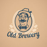 Old Brewery or Beer House Logo Stock Photography