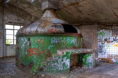 Old brewery tank in an abandoned brewery Royalty Free Stock Photography