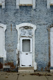 Old brick apartment Block Royalty Free Stock Photos