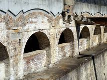 Old Brick Arches Stock Photography