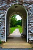 Old Brick Archway royalty free stock image