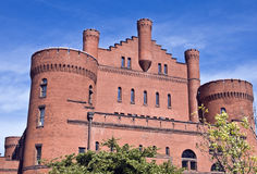 Old Brick Armory. Old armory building on campus of Wisconsin University at Madison Royalty Free Stock Photos