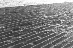 Old brick black and white image Stock Photography