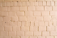Old brick brick wall painted with pink paint for texture and background Royalty Free Stock Images