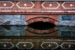 Old brick bridge, Latvia. Old red brick bridge of Kuldiga, Latvia. Closeup detail of the bridge Royalty Free Stock Photo