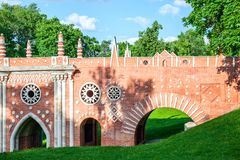 The Old Brick Bridge Royalty Free Stock Photography