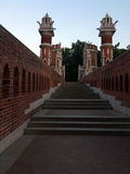 Old brick bridge in a Park in Moscow Royalty Free Stock Photography