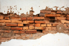 Old brick broken Stock Photography