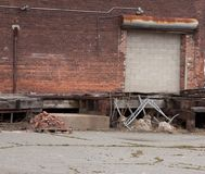 Old brick building. Very old brick factory building Royalty Free Stock Image
