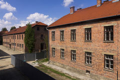 An old brick building in Auschwitz I camp Royalty Free Stock Photos