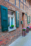 Old brick building in Bedburg Alt-Kaster, Germany Royalty Free Stock Photo