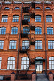 Old brick building with fire escape Royalty Free Stock Images