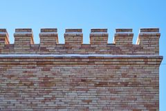 unusual brick wall from old brick royalty free stock photography