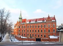 Old brick building in Krakow stock photos