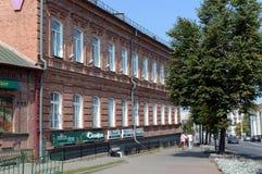 The old brick building on Lenin Street in the city of Vitebsk. Stock Photo