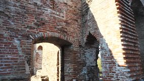 Old bricks ruined building stock video footage
