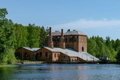Free Old Brick Building Of A Closed Down Steel Mill In Sweden Royalty Free Stock Image - 135978236