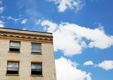 Old Brick Building and Sky Royalty Free Stock Photos